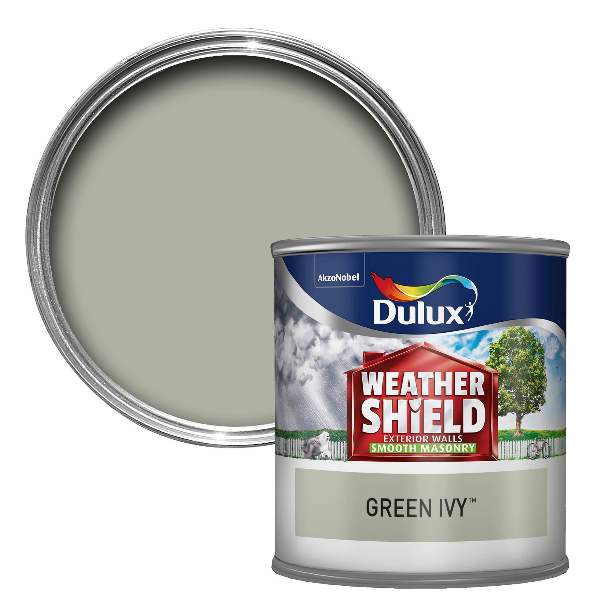 Dulux Weathershield Green Ivy Smooth Matt Masonry Paint Tester Pot Departments Diy At B Q