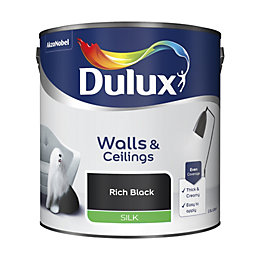 Dulux Rich Black Silk Emulsion Paint 2.5L