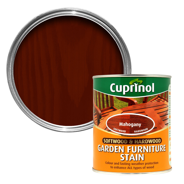 Garden Furniture Stain cuprinol softwood & hardwood mahogany garden furniture stain 0.75l
