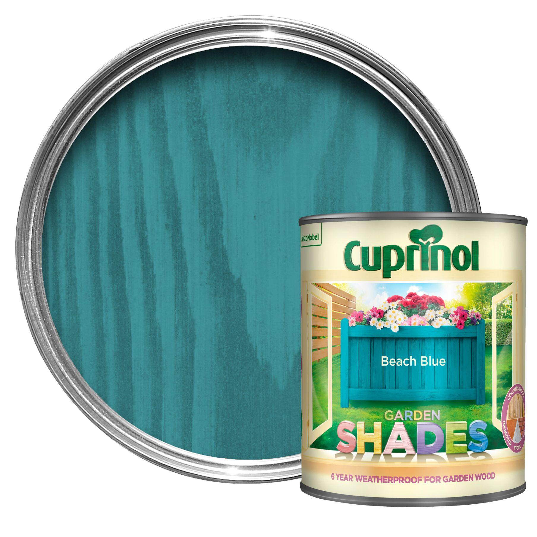 Cuprinol Garden Shades Beach Blue Matt Wood Paint 1l