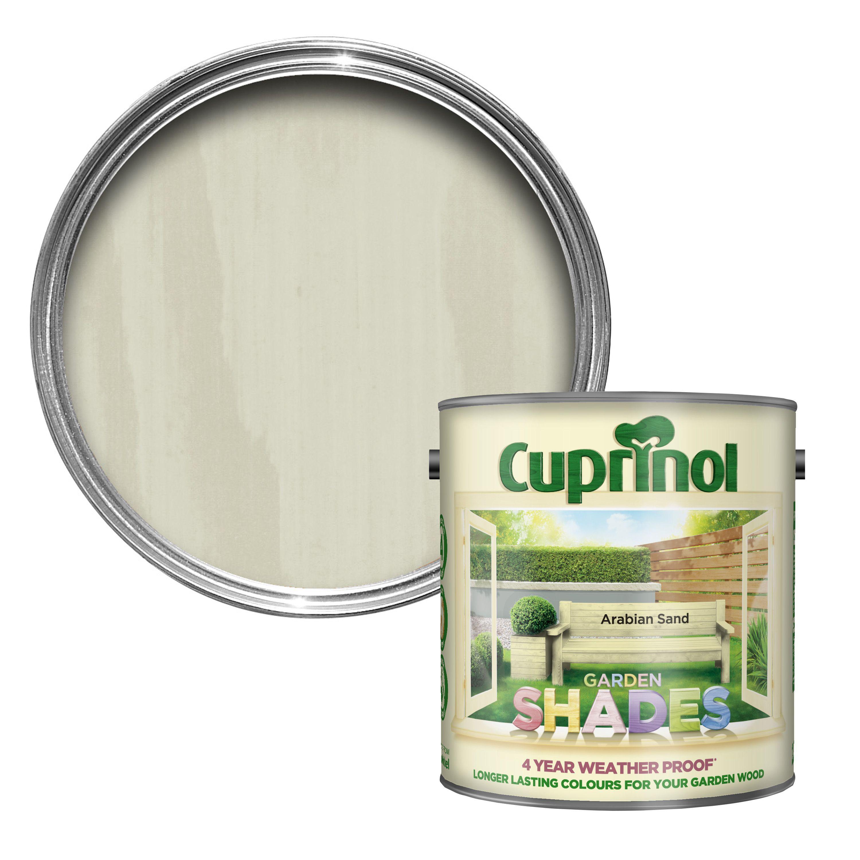 Cuprinol Garden Shades Arabian Sand Matt Wood Paint 2 5l Departments Diy At B Q