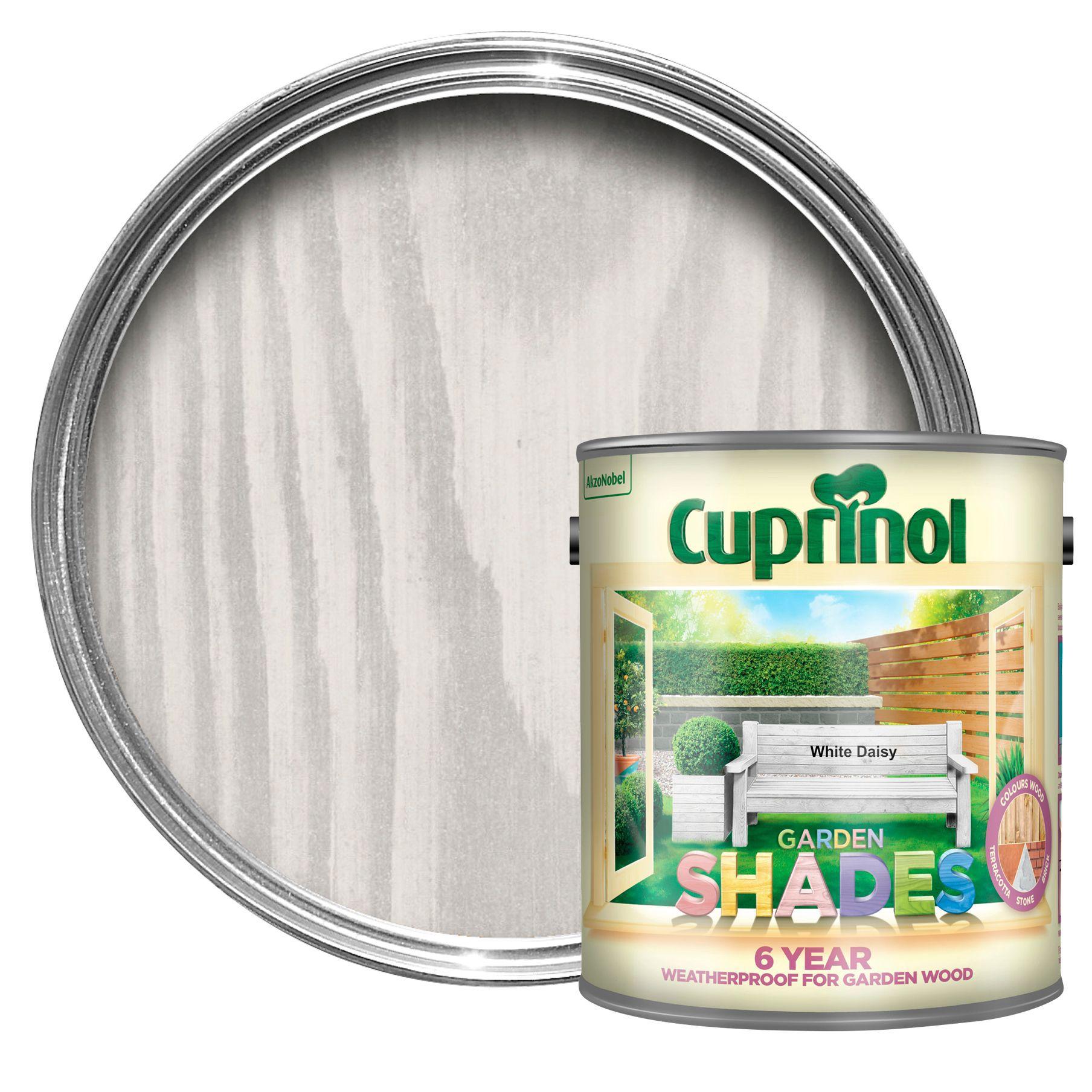 Cuprinol Garden Shades White Daisy Matt Wood Paint 2 5l Departments Diy At B Q