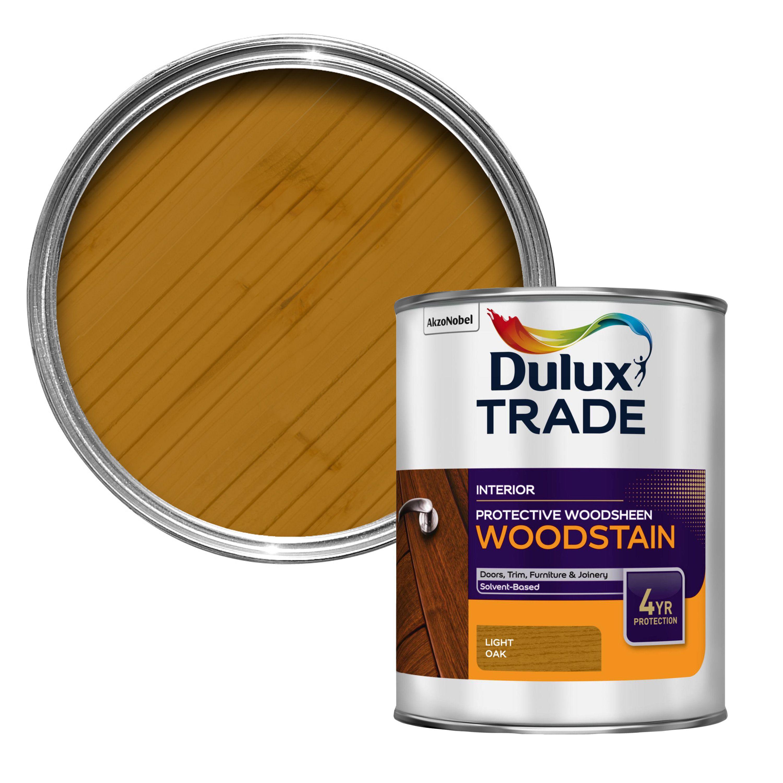 Dulux Trade Light Oak Satin Woodstain 1l Departments Diy At B Q