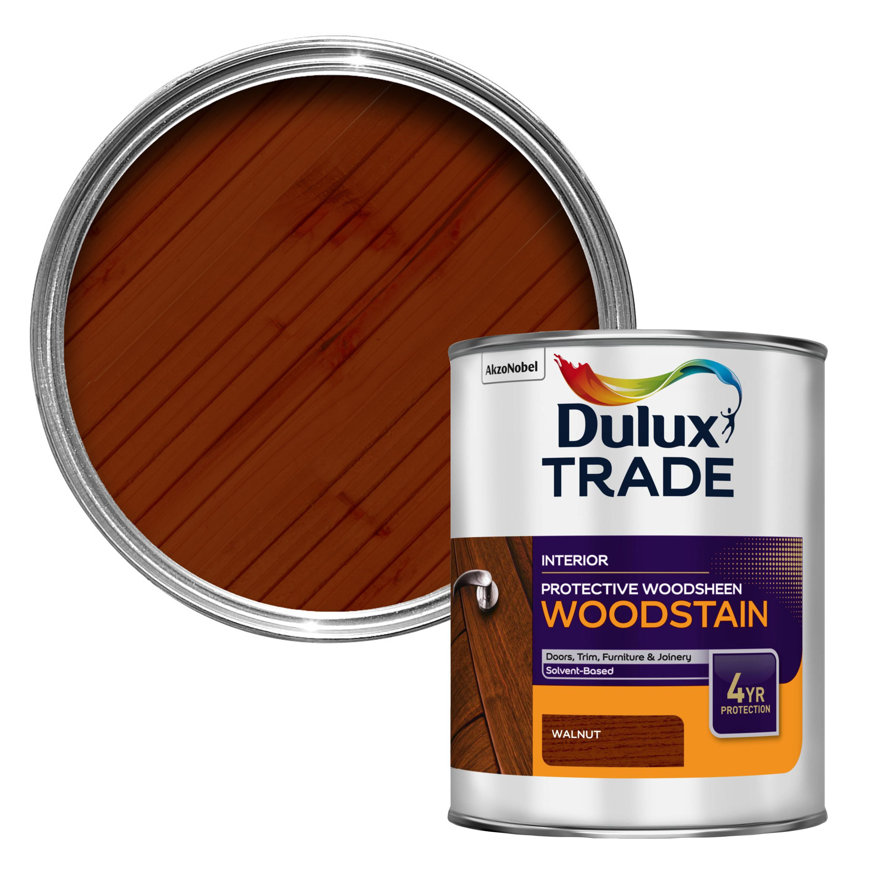 Dulux Trade Walnut Satin Woodstain 1l Departments Diy