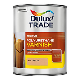 Dulux Trade Clear Satin Varnish 1L Tin