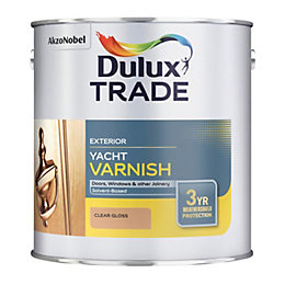 Dulux Trade Clear Gloss Yacht Varnish 1000ml Tin