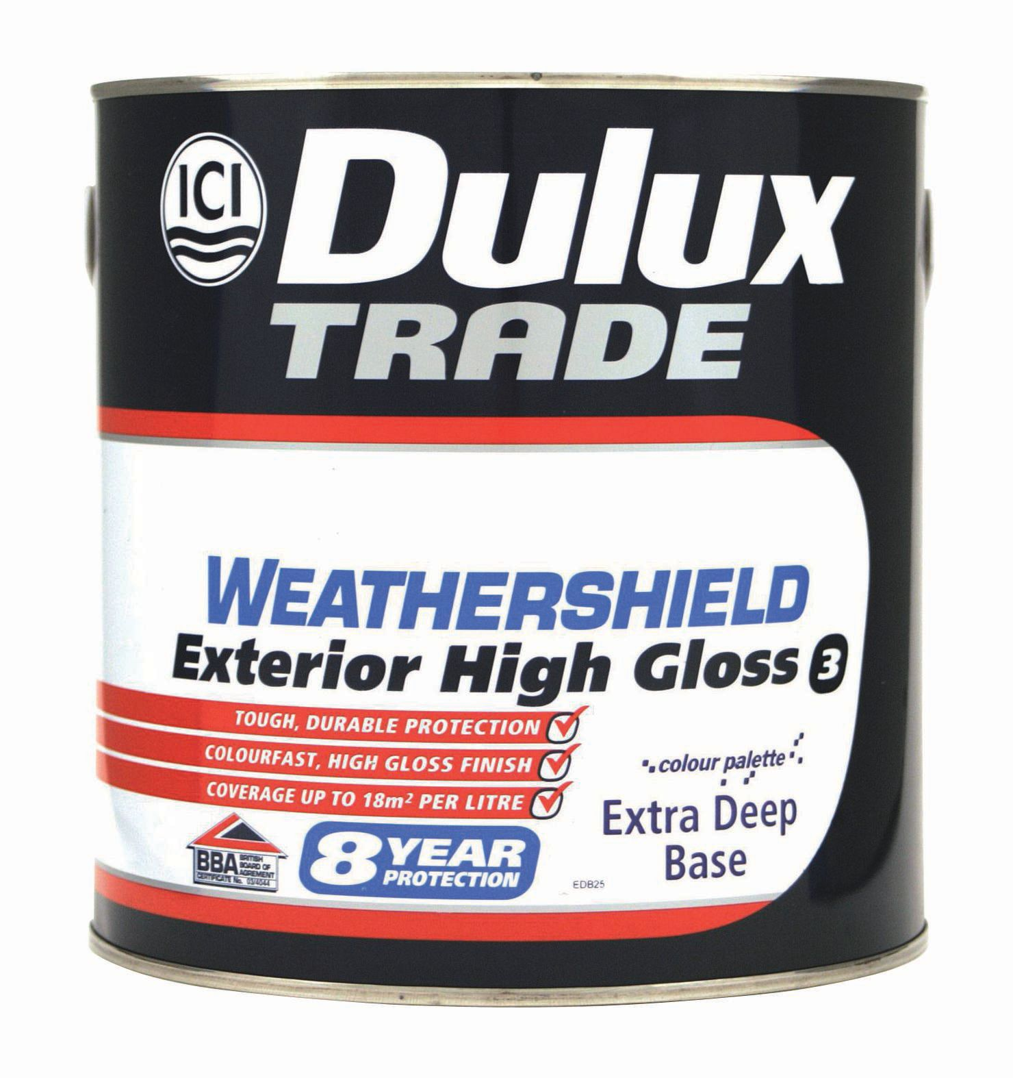 Dulux weathershield exterior extra deep base gloss wood paint 2 5l departments diy at b q - Dulux exterior gloss paint style ...