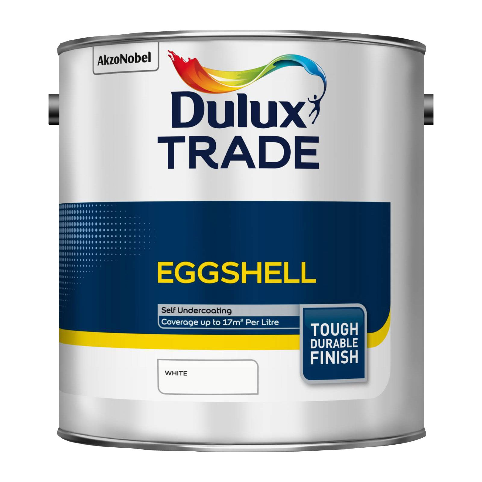 Dulux Trade Interior Eggshell White Eggshell Wood & Metal Paint 2.5l