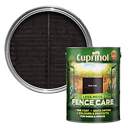 Cuprinol Less Mess Fence Care Rich Oak Shed