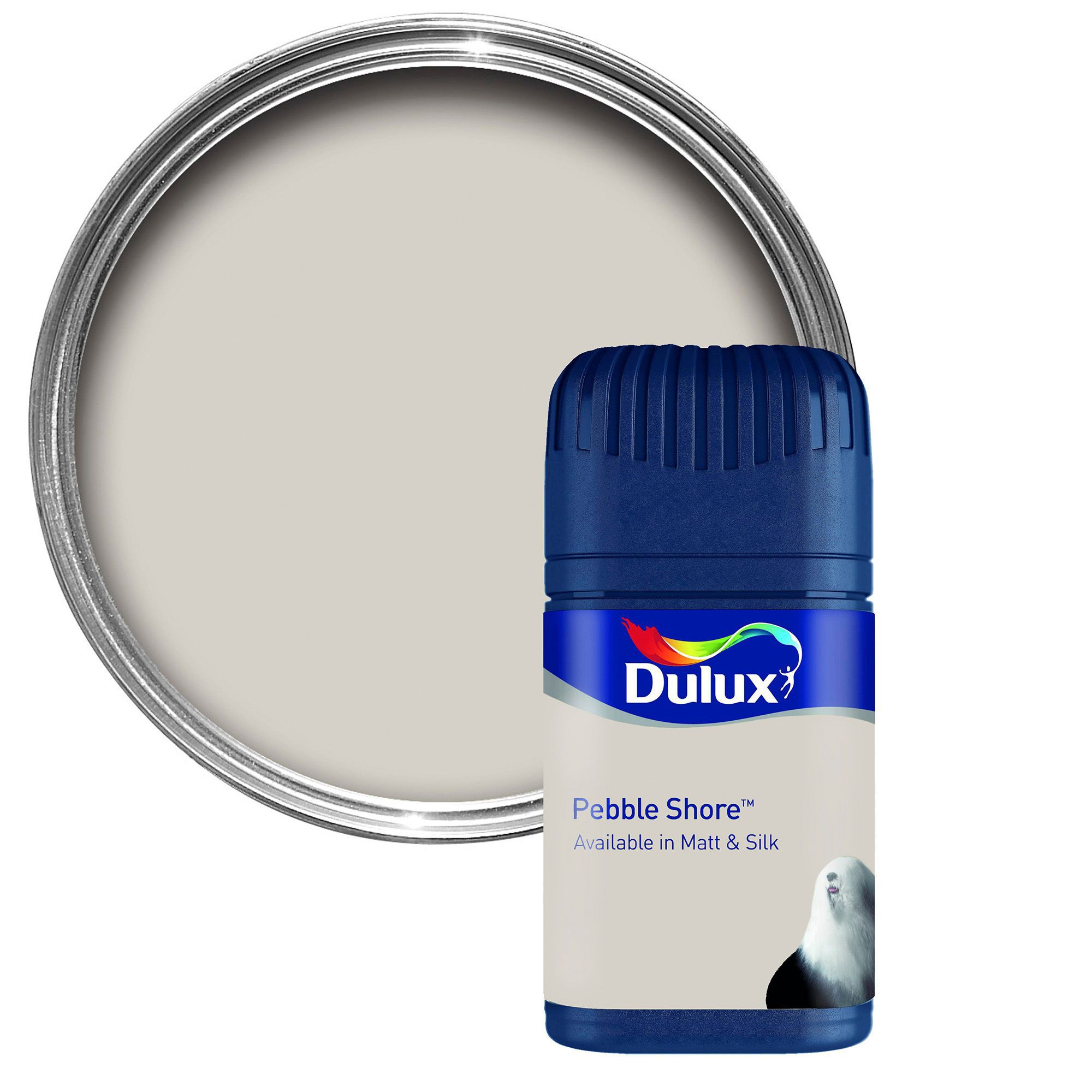Dulux Pebble Shore Matt Emulsion Paint 0.05L Tester Pot : Departments : DIY at Bu0026Q