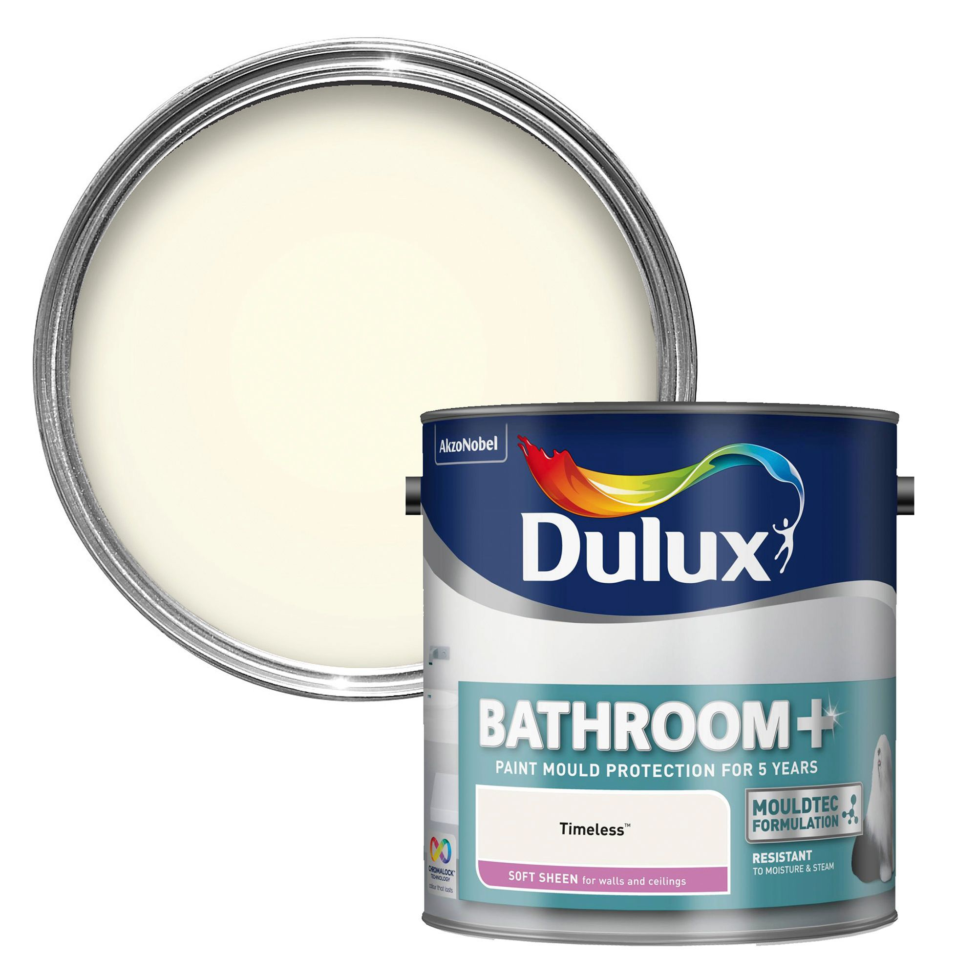 Dulux Bathroom+ Timeless Soft Sheen Emulsion Paint 2.5L ...
