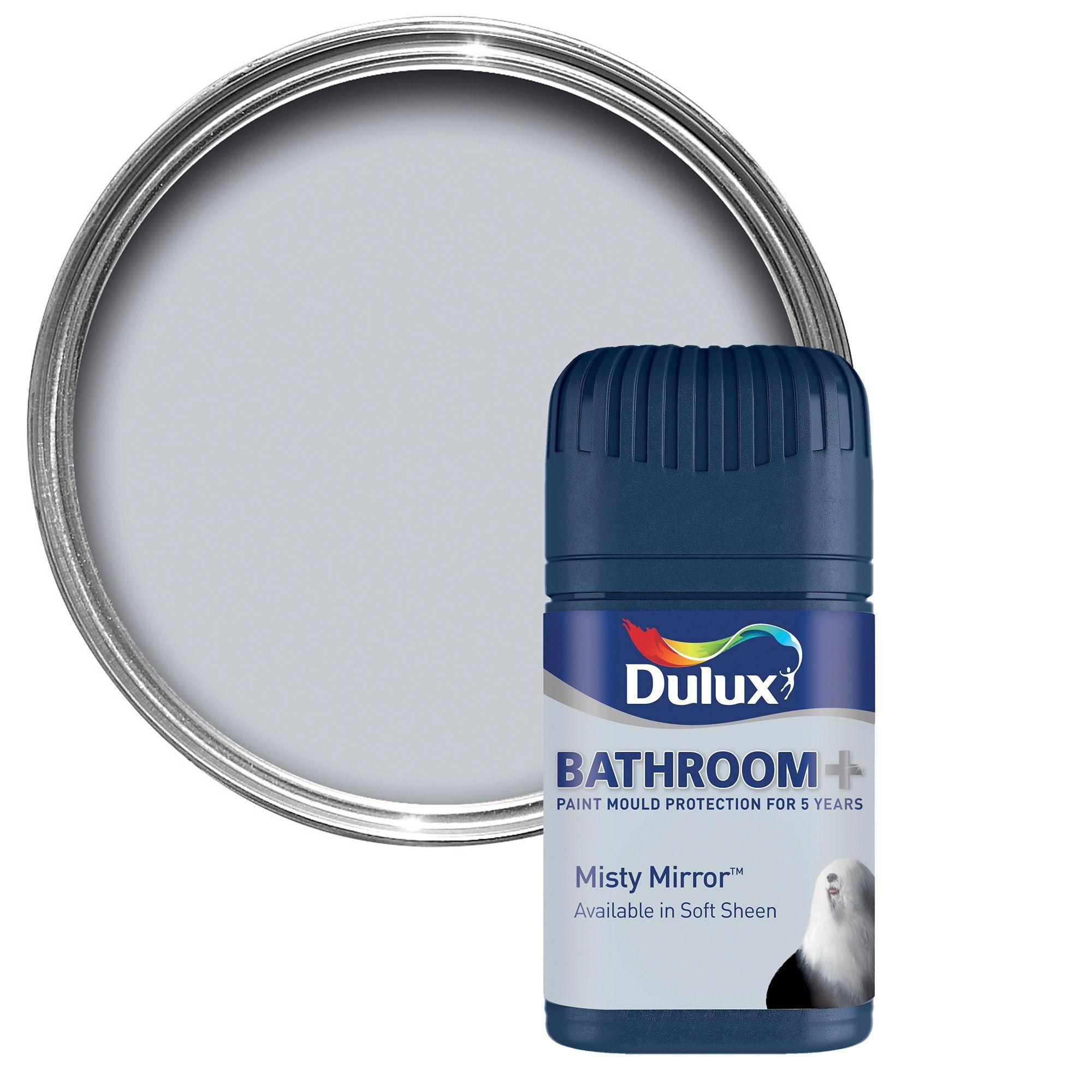 Dulux Bathroom+ Misty Mirror Soft Sheen Emulsion Paint 0.05L Tester Pot