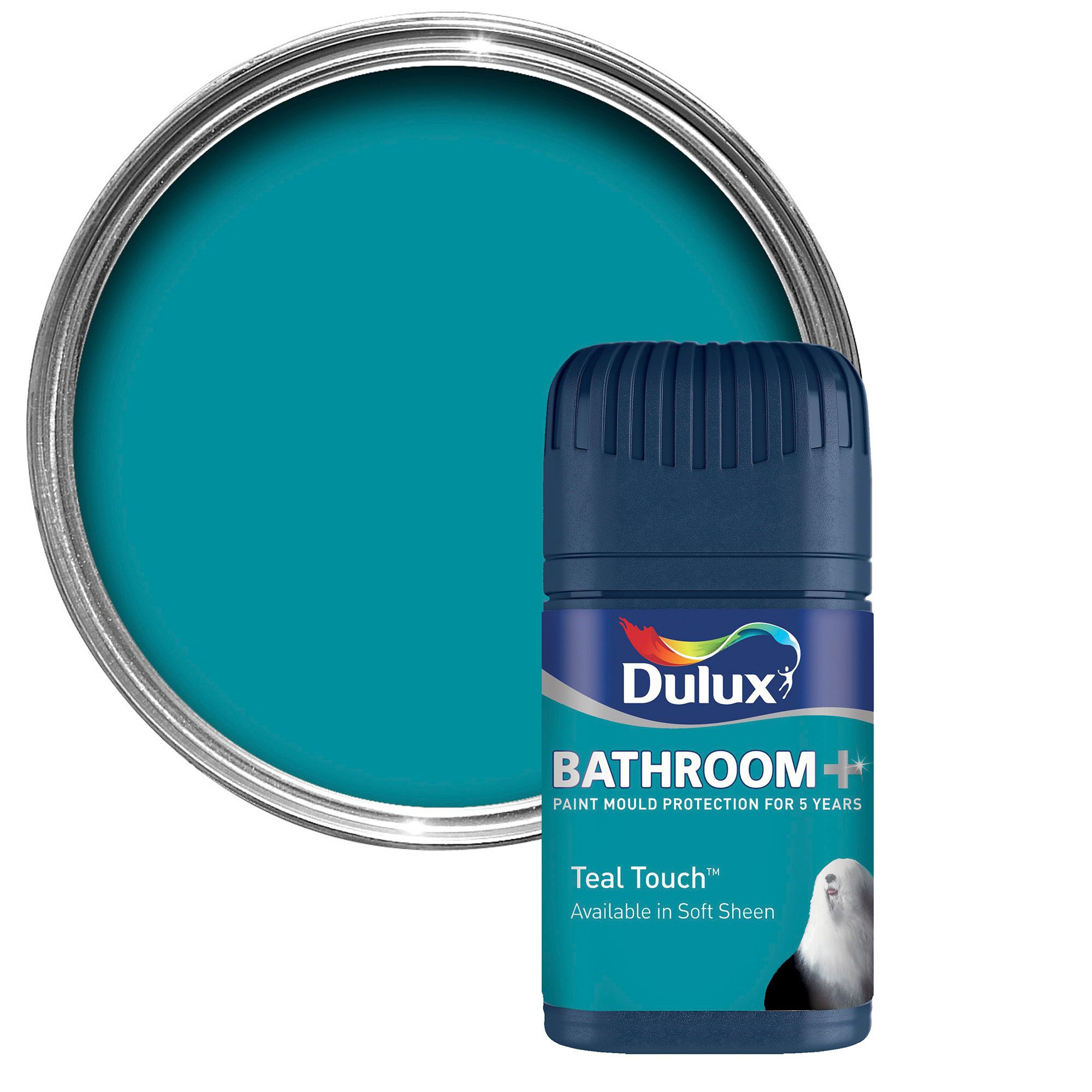 White Bathroom Paint Dulux dulux bathroom teal touch soft sheen emulsion paint 50ml tester
