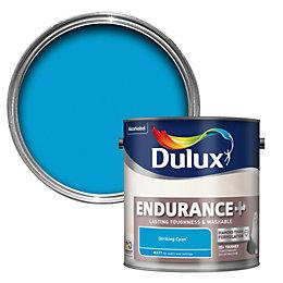 Dulux Endurance Striking Cyan Matt Emulsion Paint 2.5L