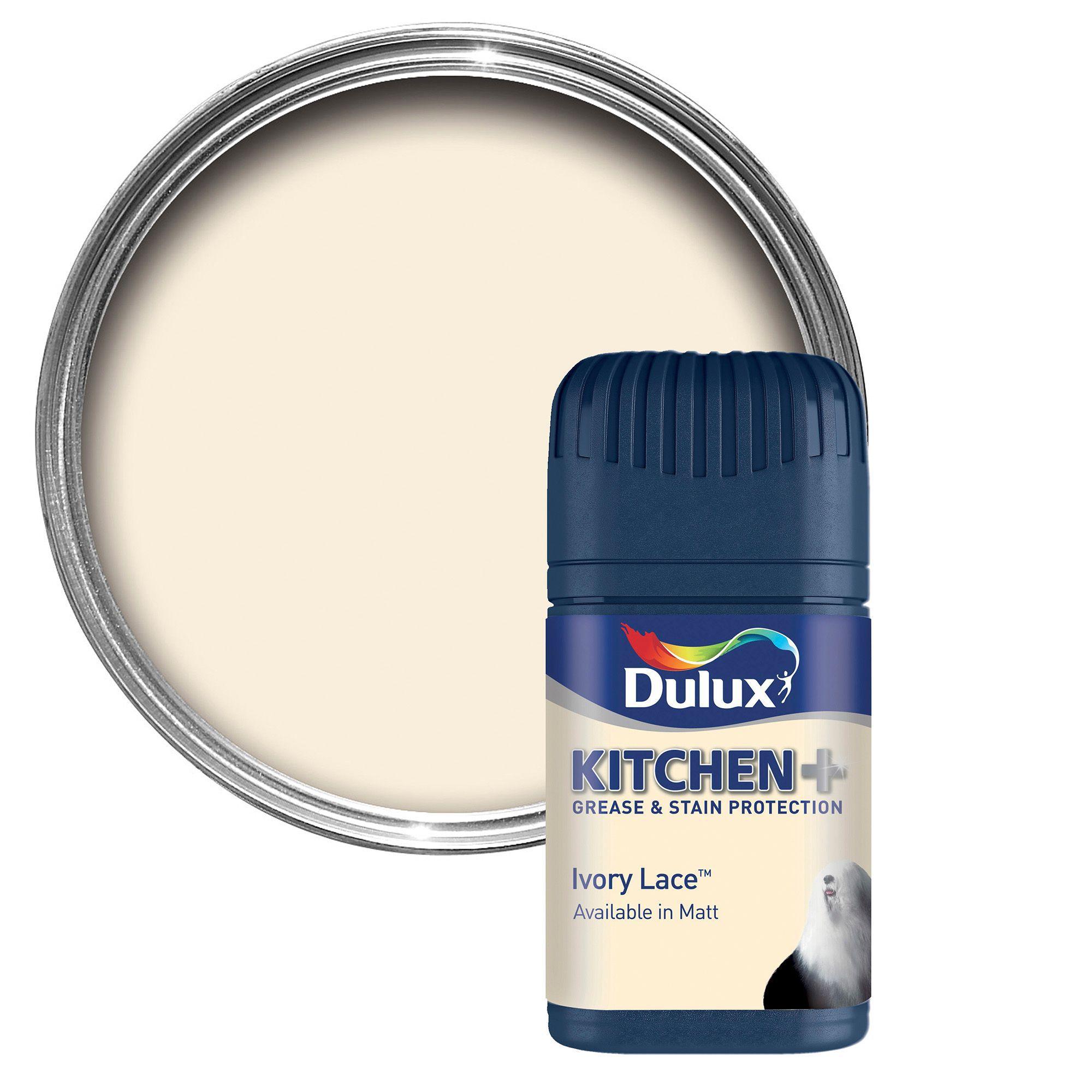Dulux Kitchen Ivory Lace Matt Emulsion Paint 50ml Tester Pot