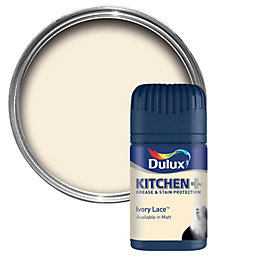 Dulux Kitchen Ivory Lace Matt Emulsion Paint 50ml