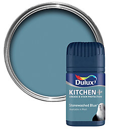 Dulux Kitchen Stonewashed Blue Matt Emulsion Paint 50ml