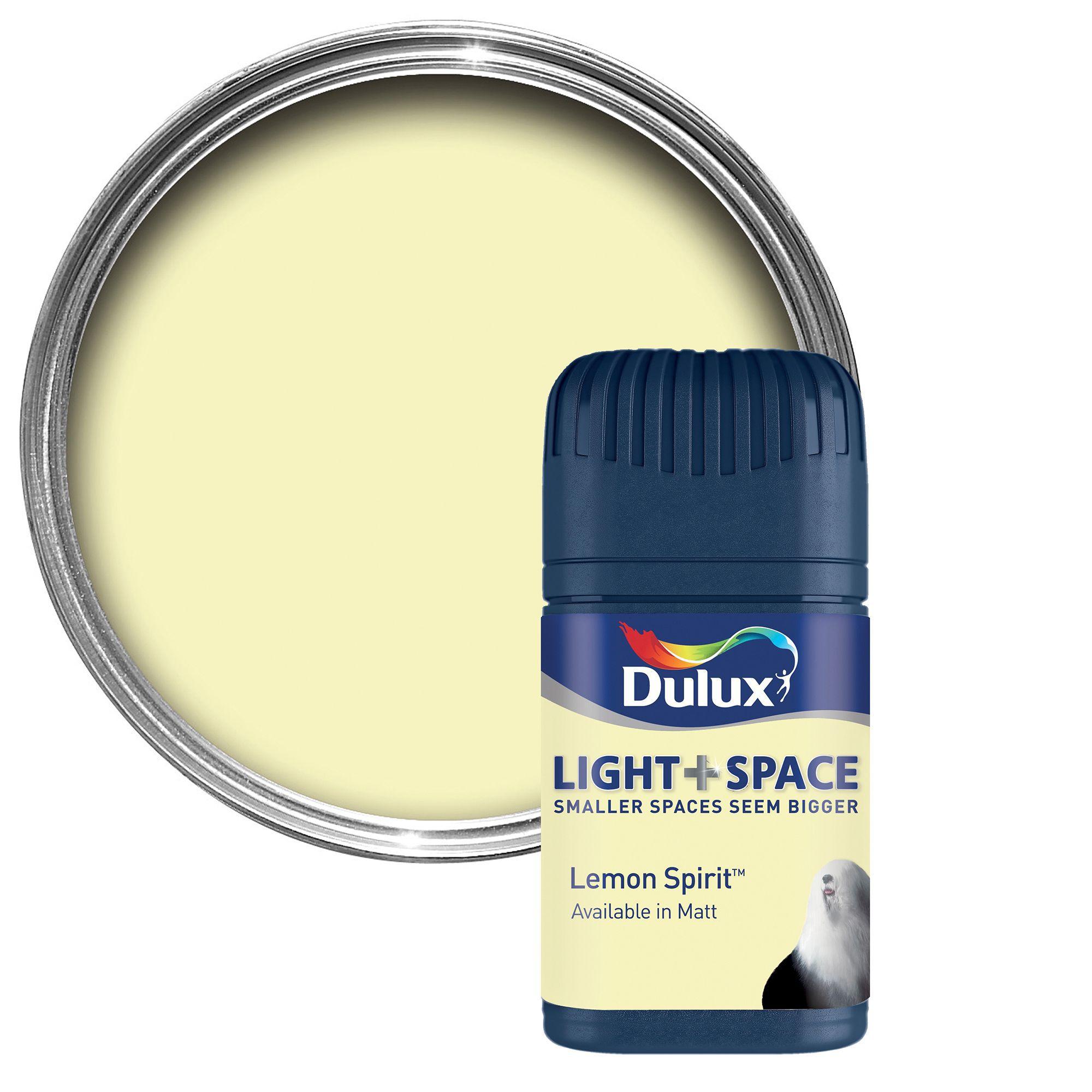 Dulux Light & Space Lemon Spirit Matt Emulsion Paint 50ml Tester Pot