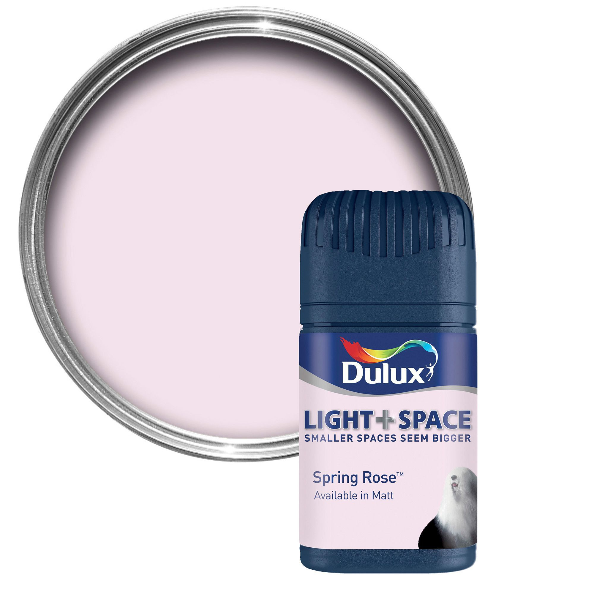 Dulux Light & Space Spring Rose Matt Emulsion Paint 0.05l Tester Pot