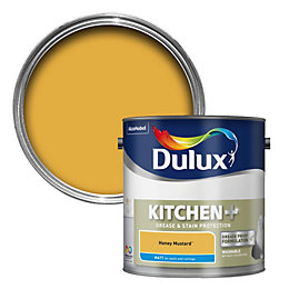 Dulux Kitchen Honey Mustard Matt Emulsion Paint 2.5L