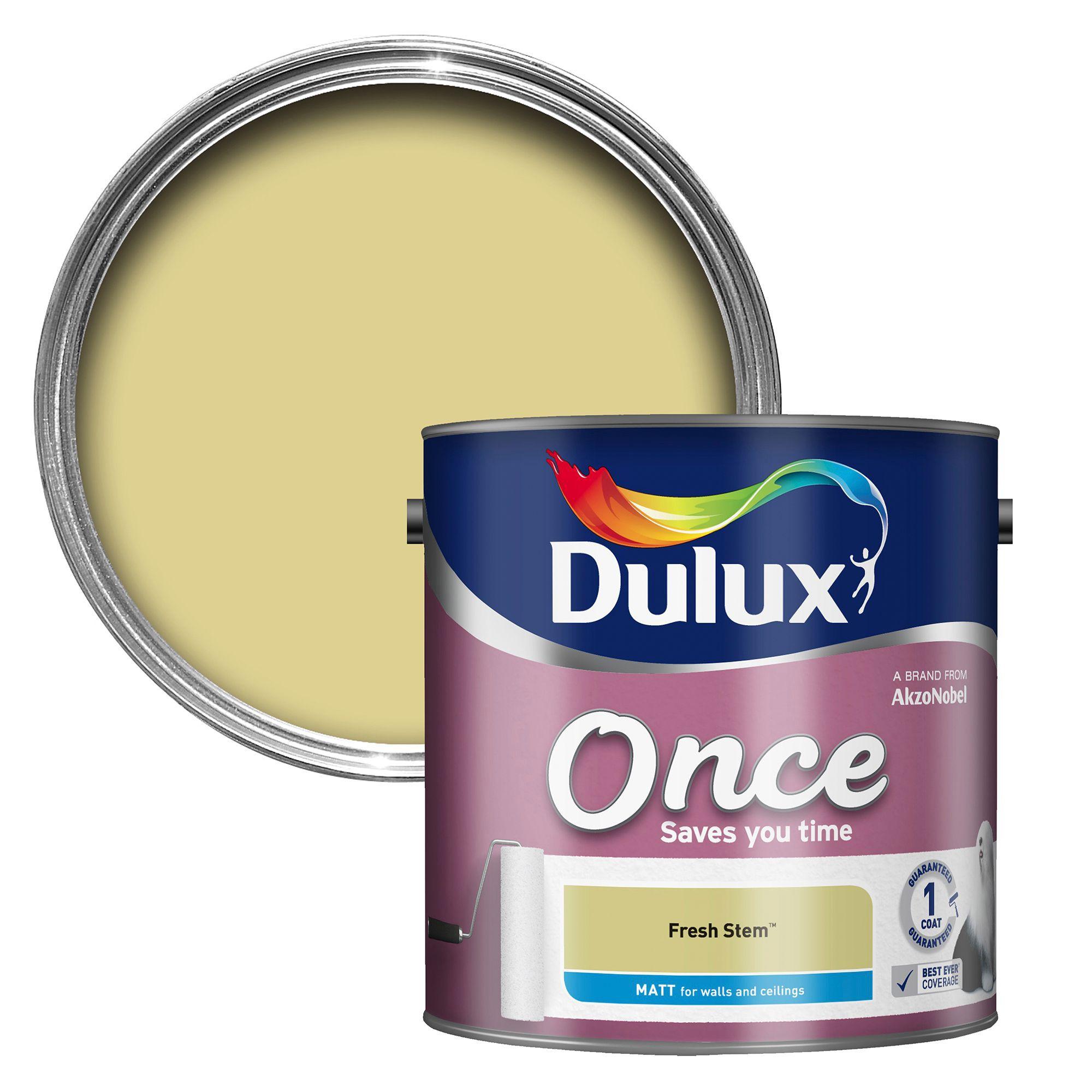 Dulux Once Fresh Stem Matt Emulsion Paint 2.5l
