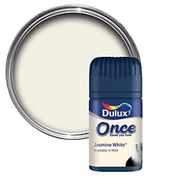 Dulux Once Jasmine White Matt Emulsion Paint 0.05L
