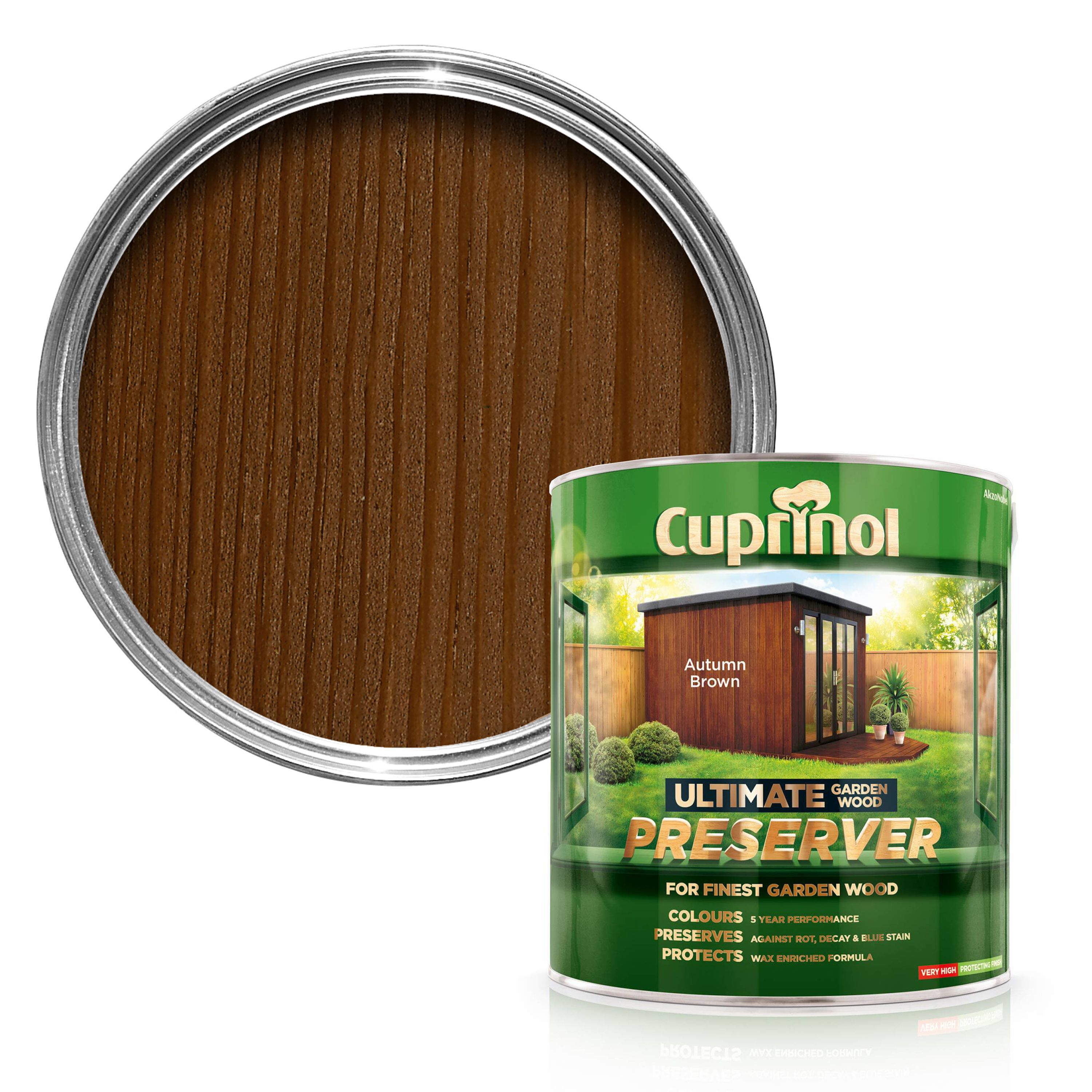 Cuprinol ultimate autumn brown matt garden wood preserver - Cedar wood preservative exterior ...