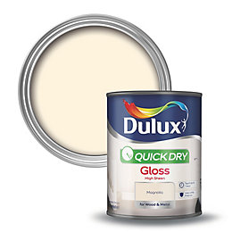 Dulux Quick Dry Internal Magnolia Gloss Paint 750ml