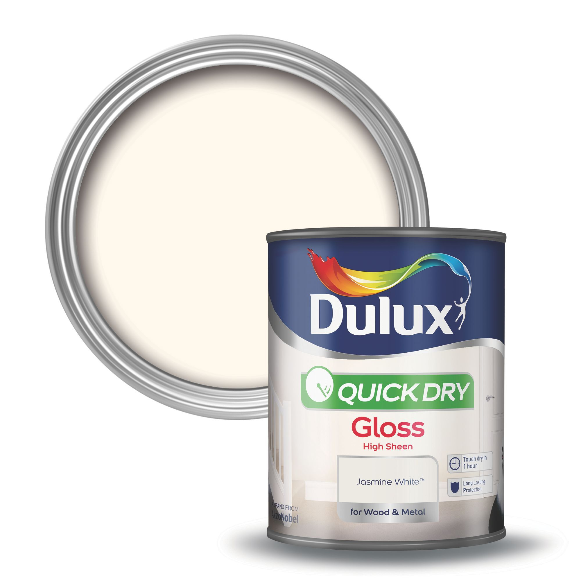 Dulux Interior Jasmine White Gloss Wood Metal Paint 750ml Departments Diy At B Q