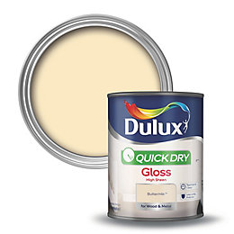 Dulux Internal Buttermilk Gloss Paint 750ml