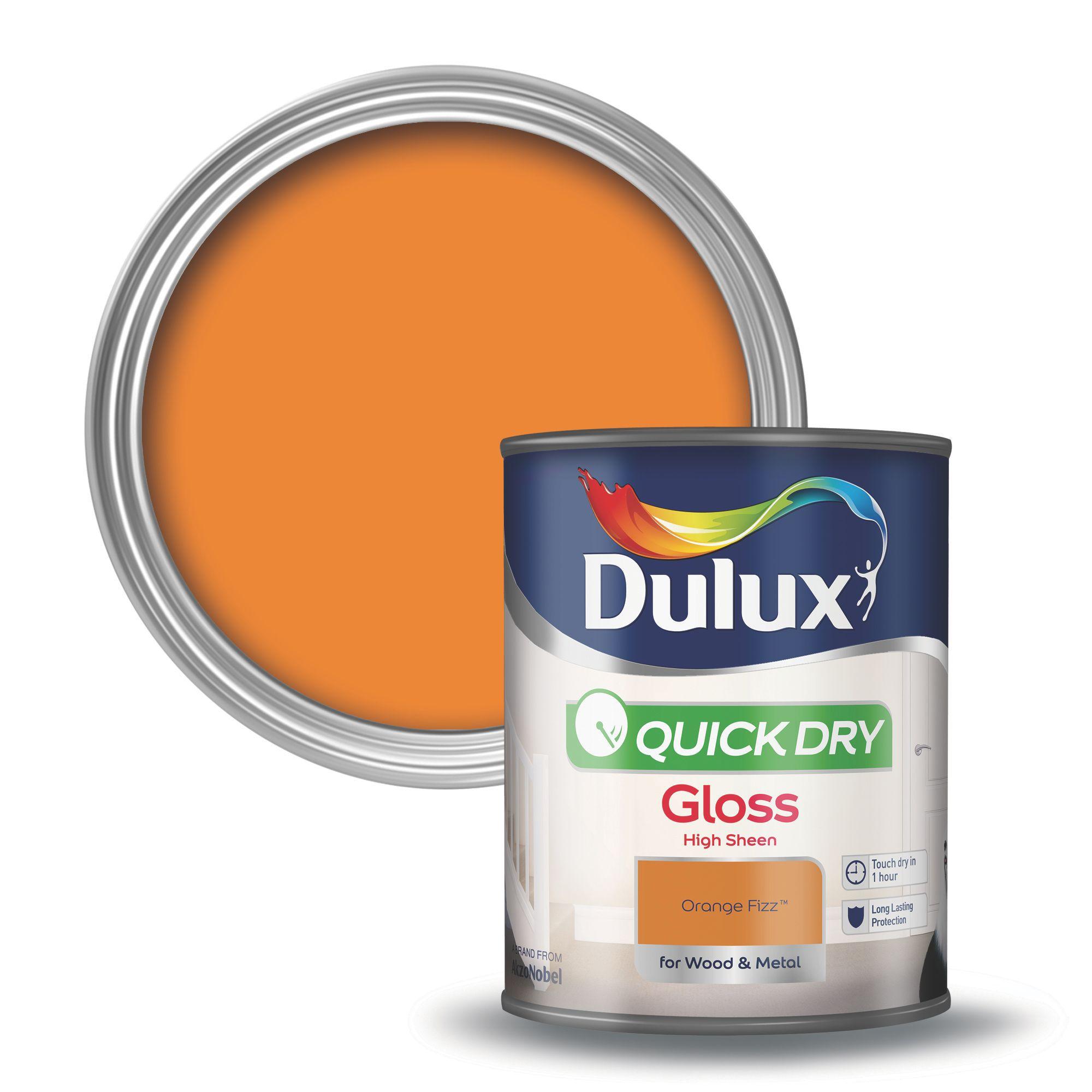 Dulux Interior Orange Fizz Gloss Wood & Metal Paint 750ml