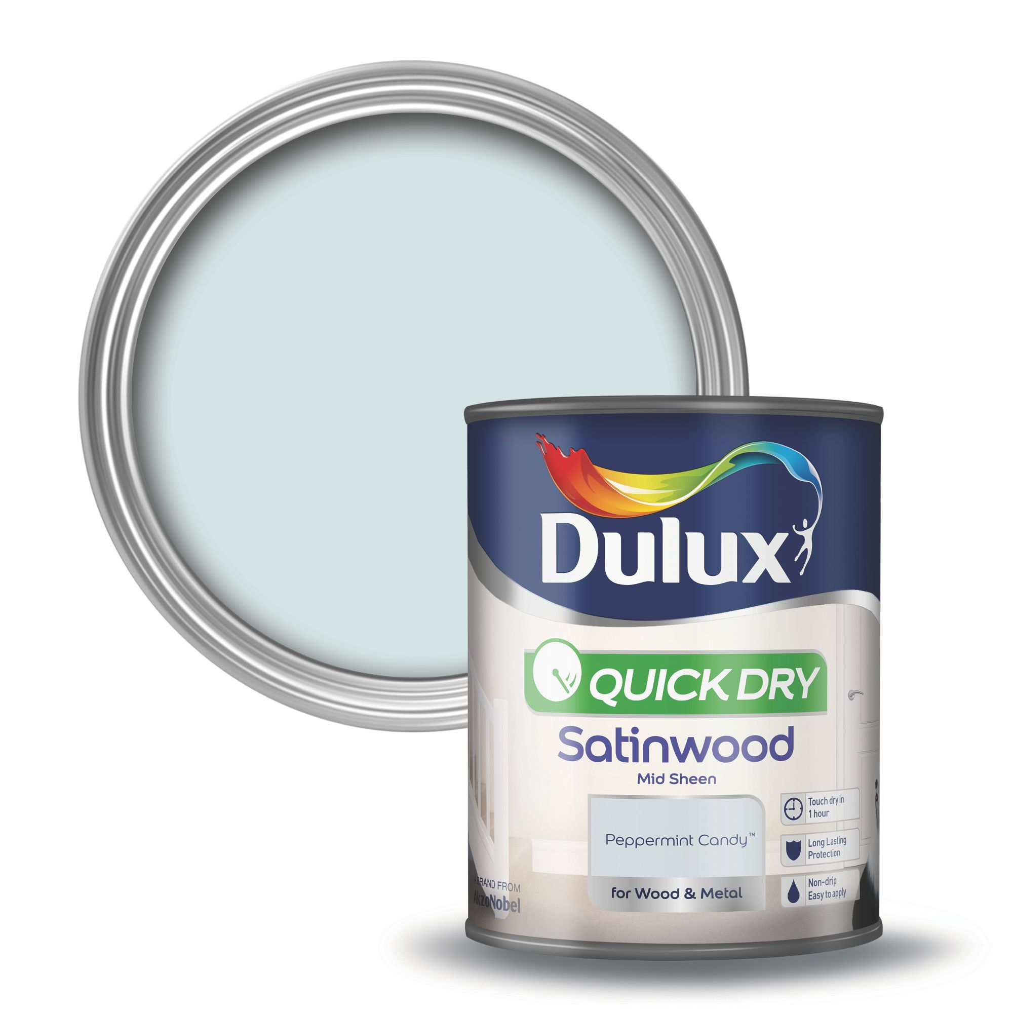 Dulux Trade Interior Exterior White High Gloss Paint 1l