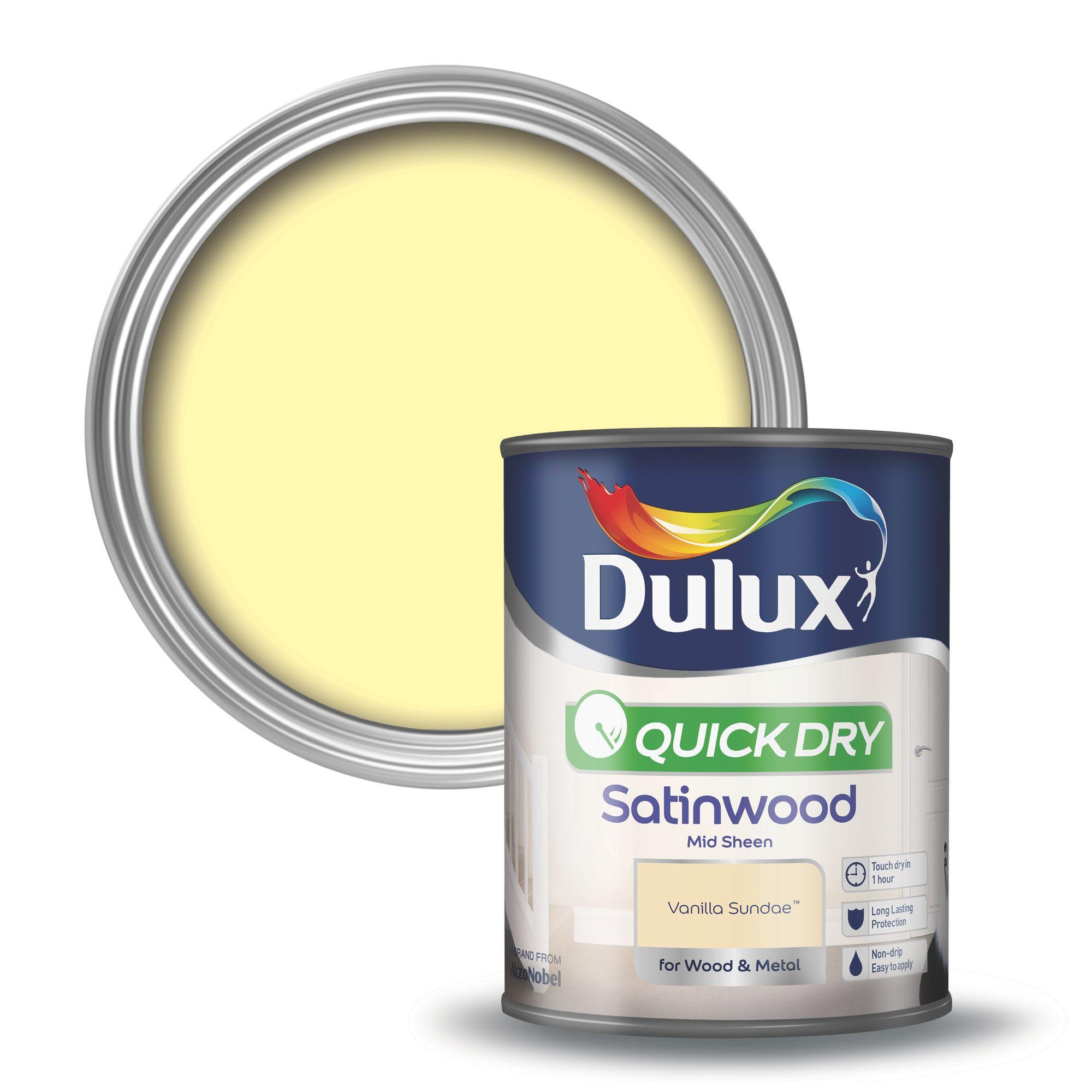 Dulux Interior Vanilla Sundae Satinwood Wood & Metal Paint 750ml