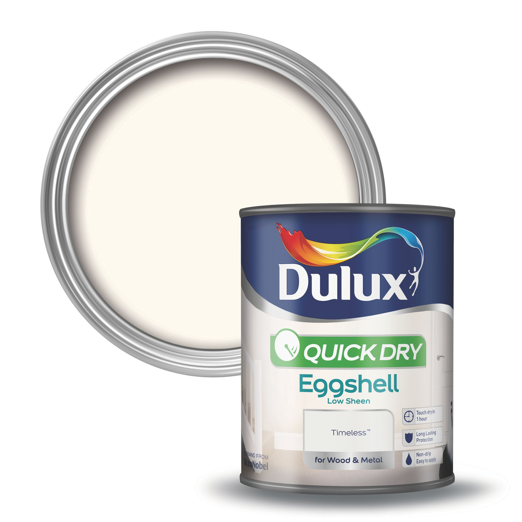 dulux interior timeless eggshell wood metal paint 750ml departments diy at b q
