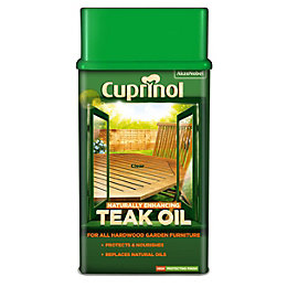 Cuprinol Naturally Enhancing Clear Natural Teak Oil 1L