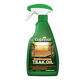 Cuprinol Naturally Enhancing Clear Teak Oil 0.5L Spray