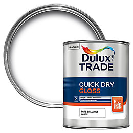 Dulux Trade Pure Brilliant White Gloss Quick Dry
