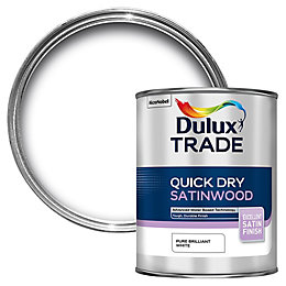 Dulux Trade Interior Pure Brilliant White Satinwood Wood