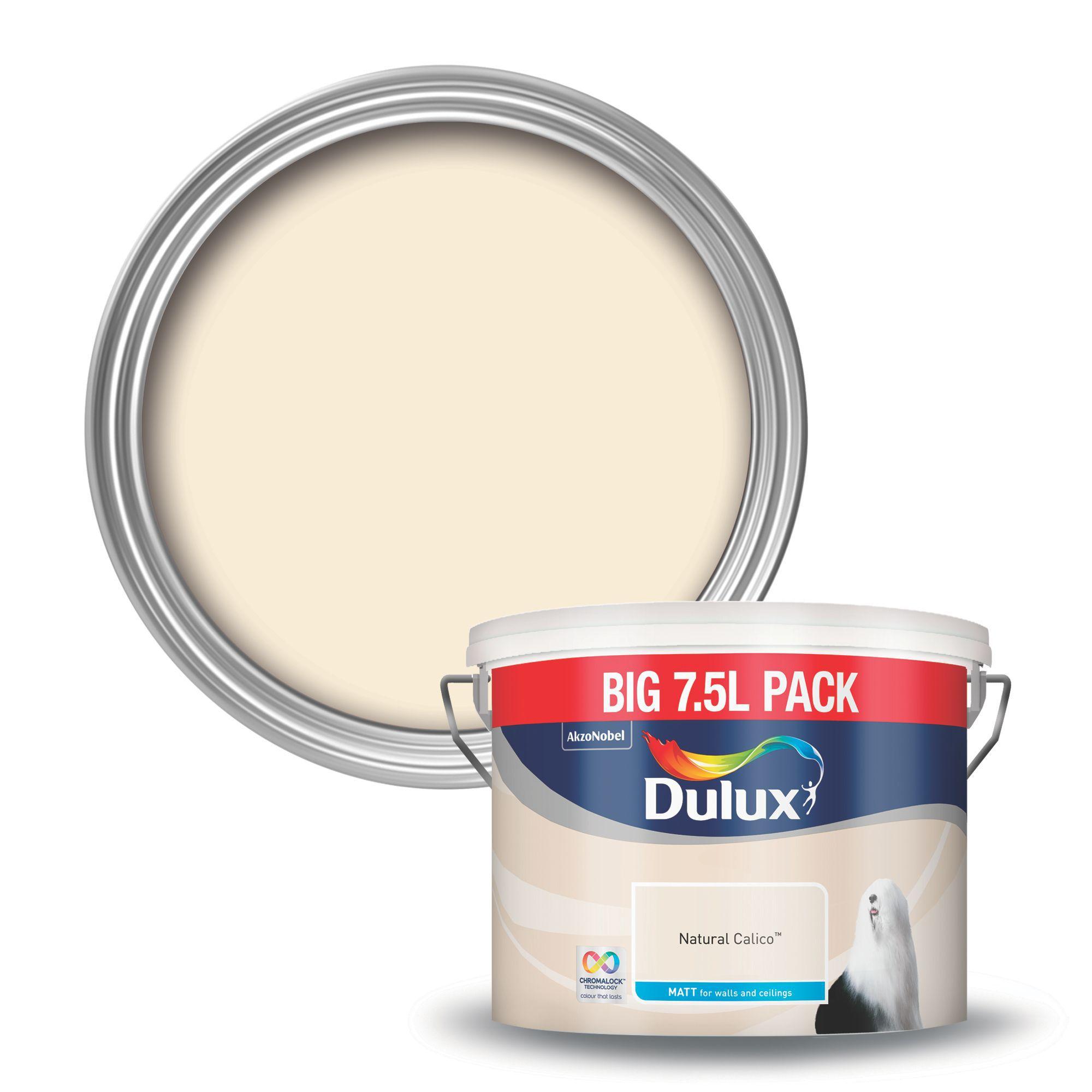 dulux natural calico matt emulsion paint 7.5l | departments | diy