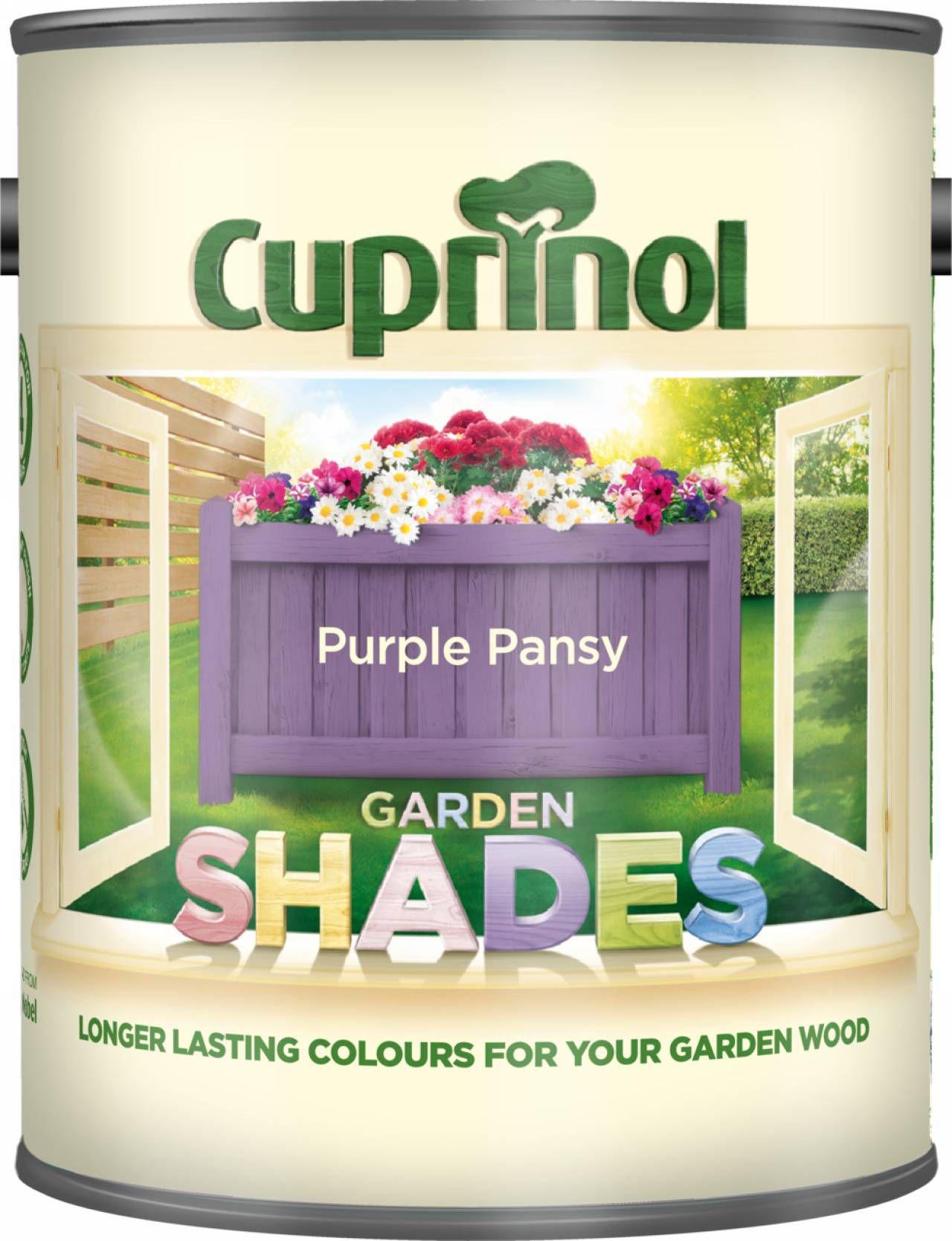 cuprinol garden shades purple pansy matt wood paint 1l departments diy at bq - Garden Furniture Paint Colours
