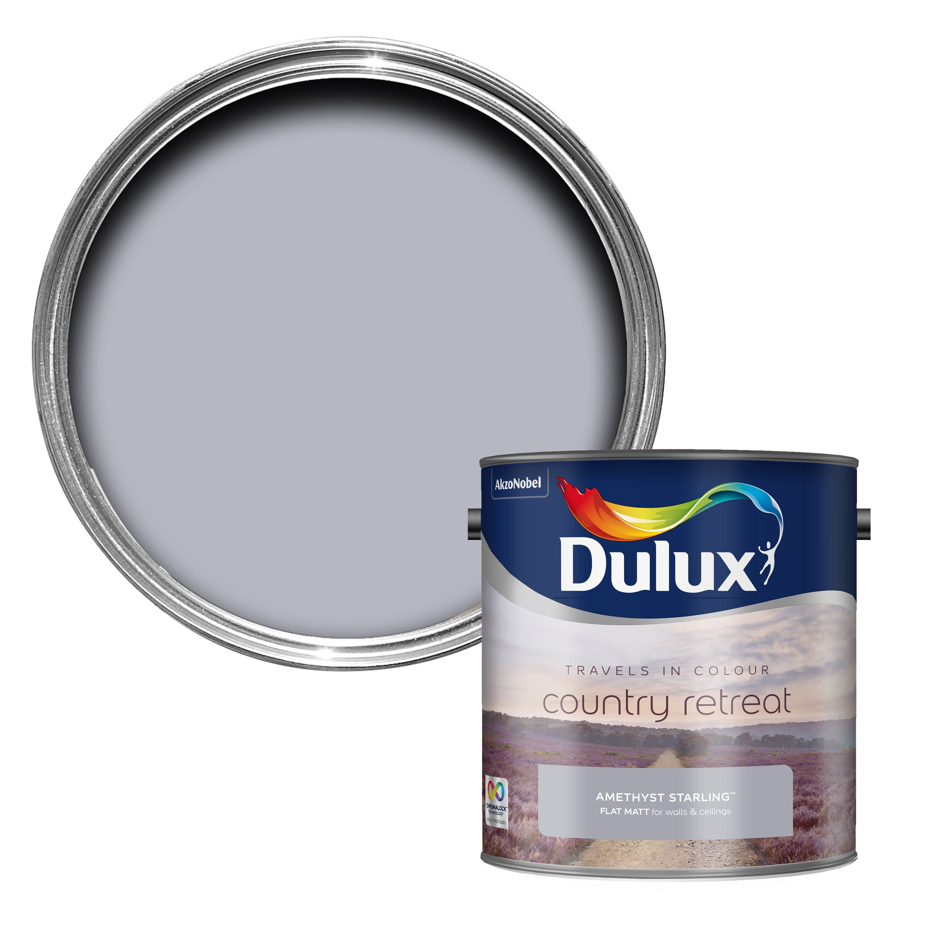 Dulux travels in colour amethyst starling purple matt emulsion paint 2 5l departments diy at b q - Dulux grey exterior paint collection ...