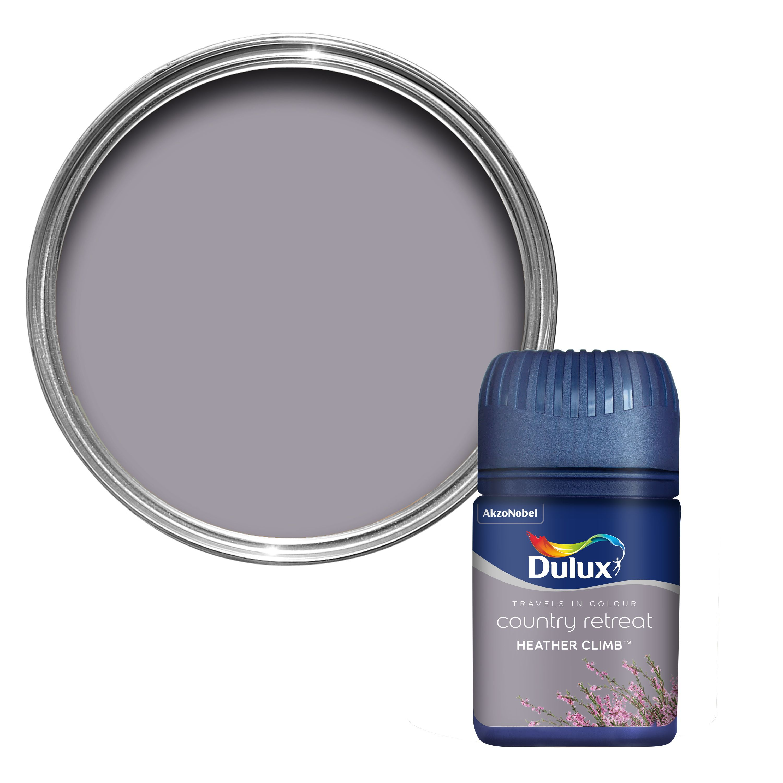 Dulux Travels In Colour Heather Climb Purple Matt Emulsion Paint 0 05l Tester Pot