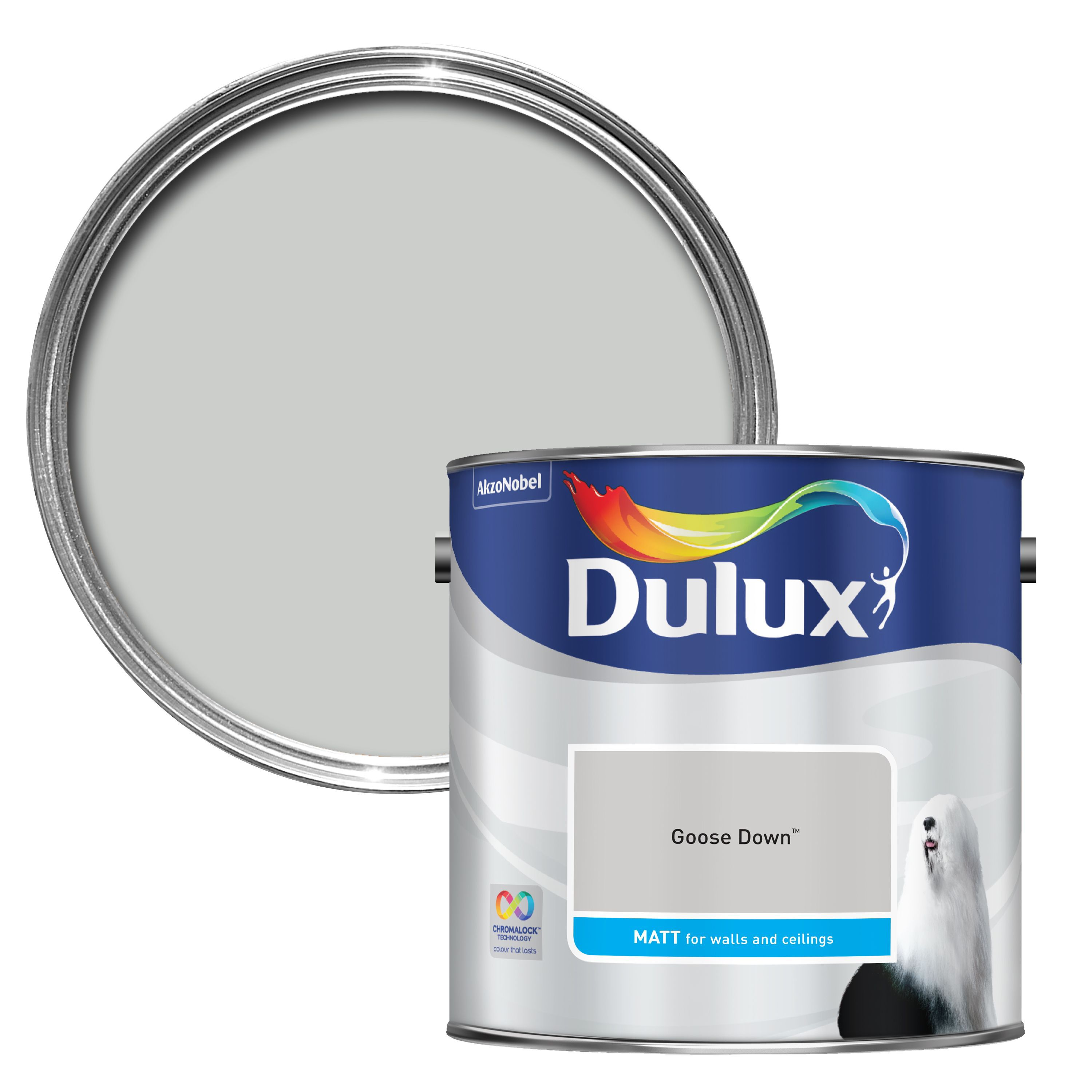Dulux Standard Goose Down Matt Wall & Ceiling Paint 2.5l