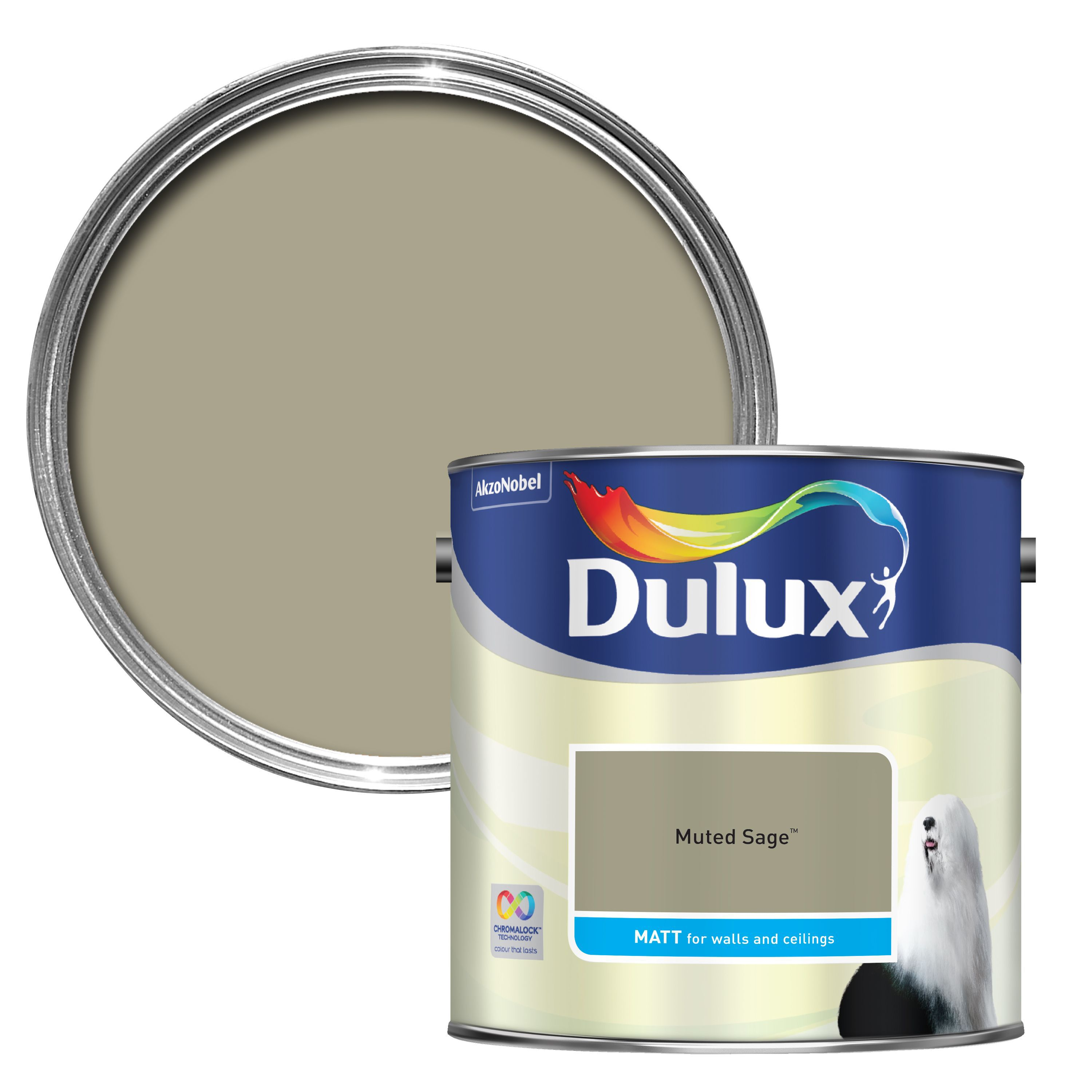 Dulux Muted Sage Matt Emulsion Paint 2.5l