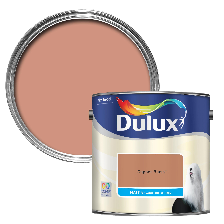 Dulux Standard Copper Blush Matt Wall & Ceiling Paint 2.5l