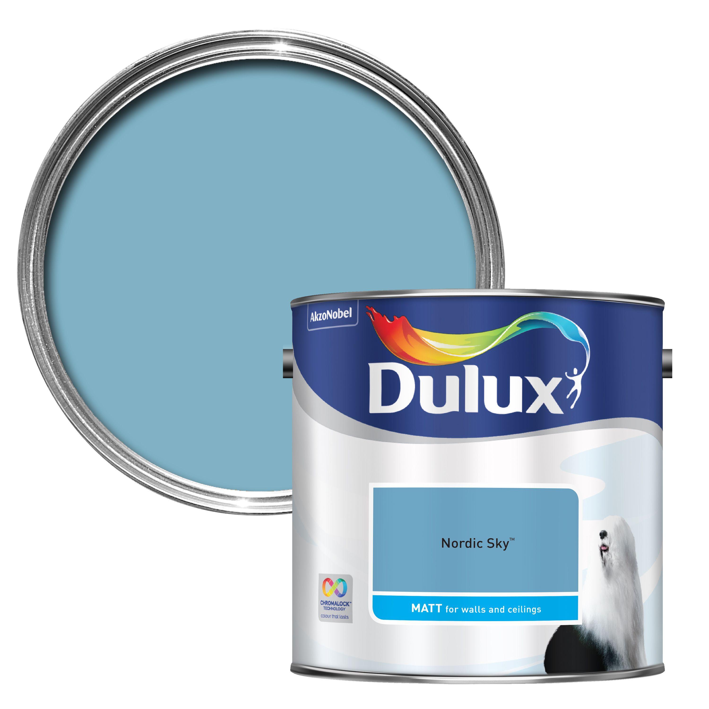 Dulux Standard Nordic Sky Matt Wall & Ceiling Paint 2.5l