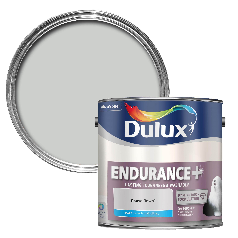 dulux endurance goose down matt wall ceiling paint 2 5l. Black Bedroom Furniture Sets. Home Design Ideas