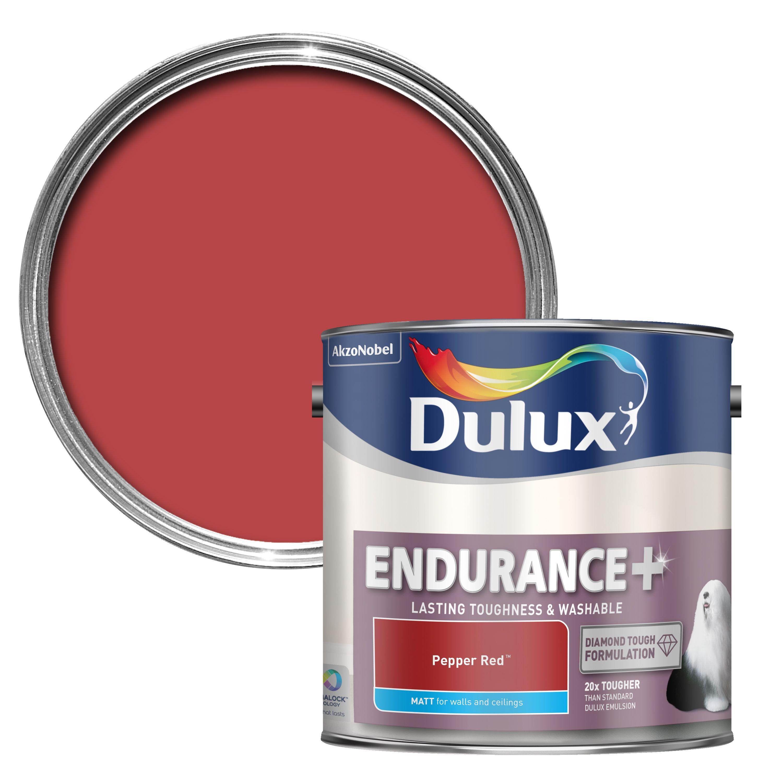 Dulux Endurance Pepper Red Matt Wall & Ceiling Paint 2.5l