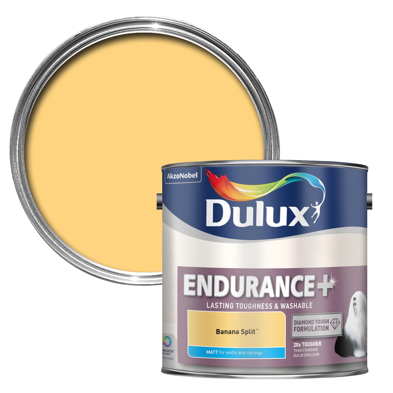 Dulux Endurance Banana Split Matt Wall & Ceiling Paint 2.5l