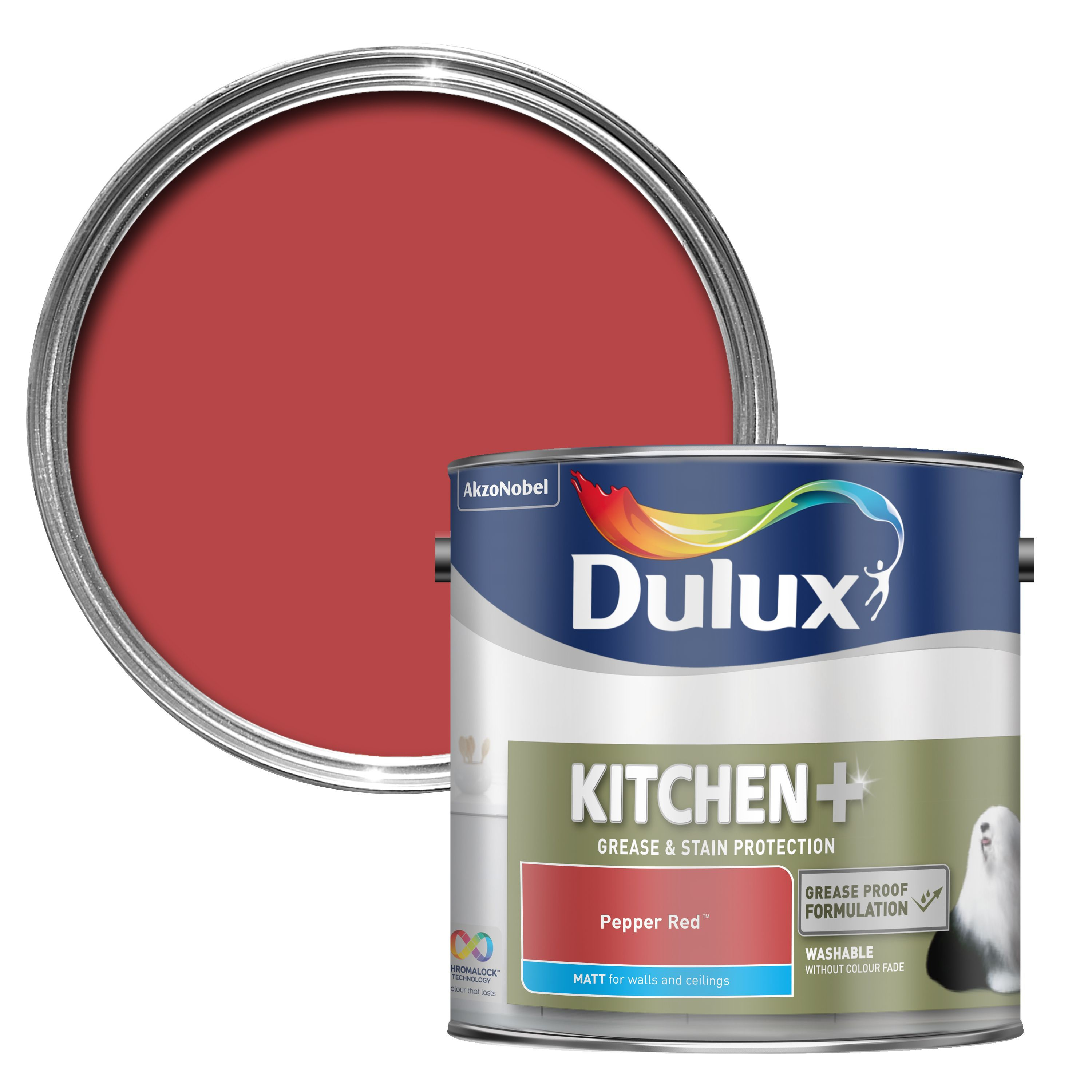Dulux Kitchen Pepper Red Matt Wall & Ceiling Paint 2.5l